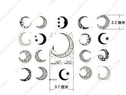 small black star and moon tattoos photo 2 real photo pictures