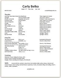 Resume Accents Resume U2014 Carly Belko