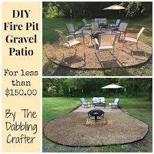 the dabbling crafter diy sunday fire pit gravel patio