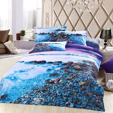 themed bed sheets 3d blue purple sea bedding sets size cotton bed sheet