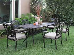 Metal Outdoor Dining Chairs Decoration Piece Cast Aluminum Patio Dining Set Seats And Metal