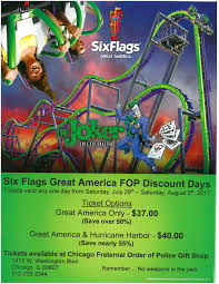 Discounted Six Flags Tickets Six Flag Fop Discount Days U2014 Fraternal Order Of Police Chicago