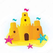 château de sable de la plage u2014 image vectorielle 2983718