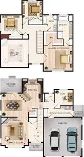 4 bedroom two storey house model with floor plans and interior