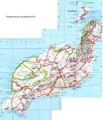 Easyjet Route Map by Lanzarote 2015