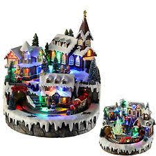 Animated Christmas Ornaments Uk by Musical Christmas Scene Ebay