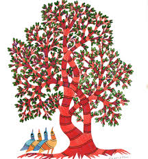 Tree Of Life Home Decor Gond Art Ethereal Colorful And Fascinating The Tree Of Life E2 80