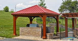Outdoor Patio Gazebo 12x12 by Pavilions Outdoor Pavilions Horizon Structures