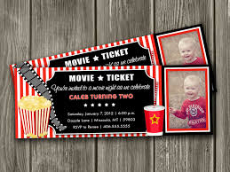movie ticket invitation free thank you card by dazzleexpressions