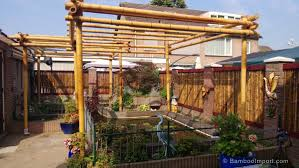 Prefab Pergola Kits by Black Bamboo Pergola Kit 3 X 4 M