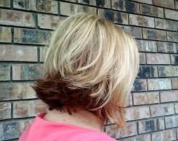 blonde bobbed hair with dark underneath short blonde hair with dark underneath auburn hair with blonde