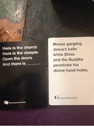 moses gargling here is the church jesus s balls here is the
