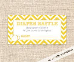 raffle baby shower yellow raffle card for baby shower yellow
