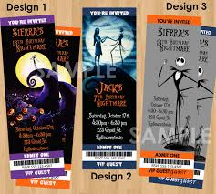personalised halloween party invitations nightmare before christmas invitation printable birthday