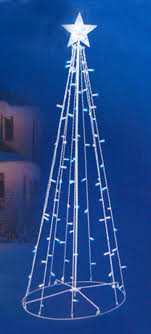 wire christmas tree with lights 5 blue white led lighted outdoor twinkling christmas tree yard
