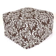 Home Goods Ottoman shop majestic home goods chocolate and white bean bag chair at