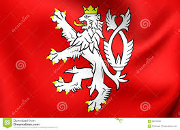 Czech Flag Flag Of Bohemia Coat Of Arms Czech Republic Stock Illustration