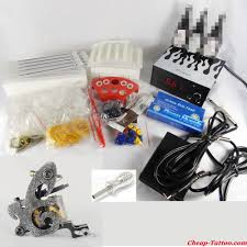 tattoo kit without machine handmade machine tattoo kit 1 machine 50 needles tips tytk063