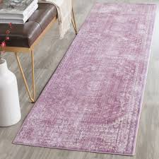 Lilac Runner Rug Fuchsia Watercolor Area Rug Valencia Collection Safavieh