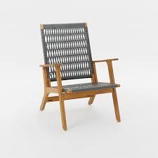 catskill wood wicker chair teak gray west elm