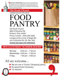 Pnatry Old South United Church Of Christ Food Pantry