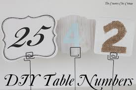 Wedding Table Number Ideas Diy Wedding Table Numbers The Bright Ideas Blog
