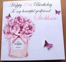personalised handmade birthday card 16th 18th 21st daughter sister