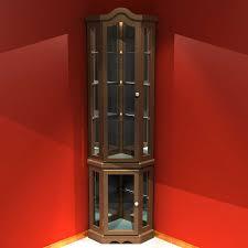 Linen Cabinet Glass Doors by Corner Cabinet With Glass Doors Homesfeed