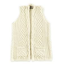 white wool sweater s celtic vest in merino wool sweaters