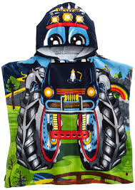 monster truck show okc amazon com northpoint monster truck kids hooded beach towel 24 x