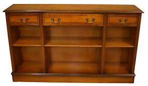 Low Bookcases With Doors Reproduction Low Bookcases Yew And Mahogany A1 Furniture Enfield