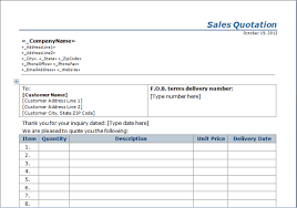 sample quotation doc sales quotation template free layout u0026 format