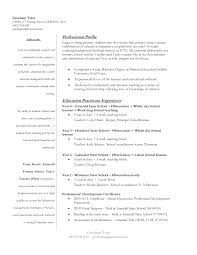Resume Sample Format For Abroad by Education Resume Example Qualifications Resume Substitute Teacher