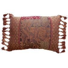 Red Decorative Pillow Croscill Classics Catalina Red Boudoir Pillow