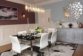 mirrored dining table room contemporary with wall paneling