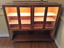 Display Cabinet With Lighting Mid Century Modern Display Cabinet With Interior Lighting By
