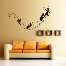online shop peter pan kids quote wall stickers art mural second online shop peter pan kids quote wall stickers art mural second star to the right diy cartoon baby room decoration wallpaper home decor lch aliexpress