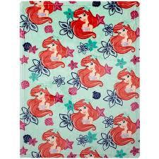 disney ariel plush printed blanket walmart