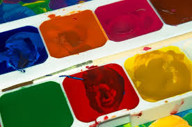 free photo paint color yellow red blue free image on