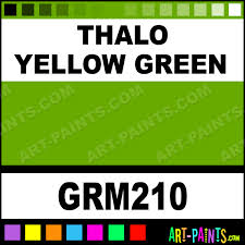 thalo yellow green grumbacher oil paints grm210 thalo yellow