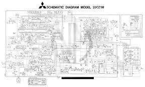 schematic diagram mitsubishi tv schematic circuit diagram