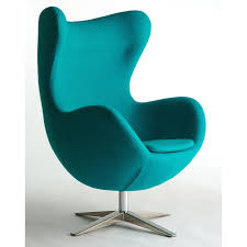 Turquoise Armchair Egg Chairs Turquoise Wool Fabric Egg Chair Replica The Chair Red
