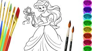 drawing mermaid coloring pages disney princess colouring