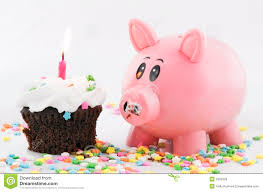 his and hers piggy bank happy birthday piggy bank two royalty free stock images image