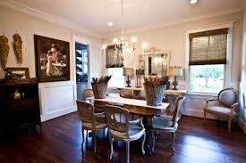 Elegant Dining Room Decorating Elegant Dining Room Design With Brown Bali Shades And