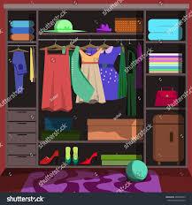 closet wardrobe fashion clothes closet wardrobe stock vector