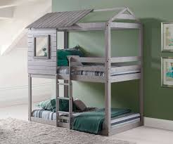 Donco Bunk Bed Deer Blind Bunk Loft Bed In Light Grey Finish