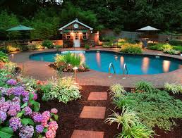 at www backyard landscaping ideas for backyard with pool