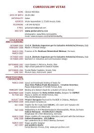 simple c v format sample example of cv resume atchafalayaco cv resume sample filetype part