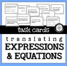 translating verbal expressions into algebraic expressions worksheets 25 melhores ideias de translating algebraic expressions no